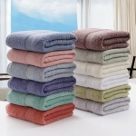 3pcs_pure_cotton_plain_jacquard_satin_bath_towel_set
